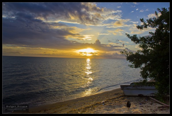 Garifuna Settlement Sunrise 2011 in Hopkins