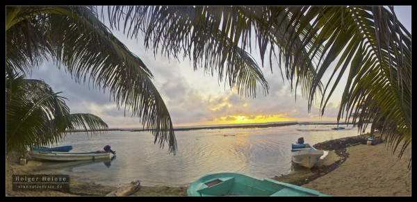 Sunrise on Tobacco Caye, Belize